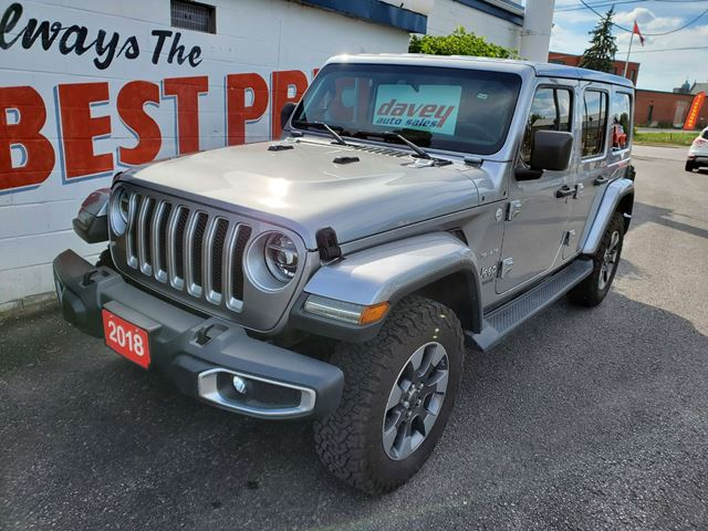2018 JEEP WRANGLER Unlimited Sahara COME EXPERIENCE THE DAVEY DIFFERENCE! in Oshawa, Ontario