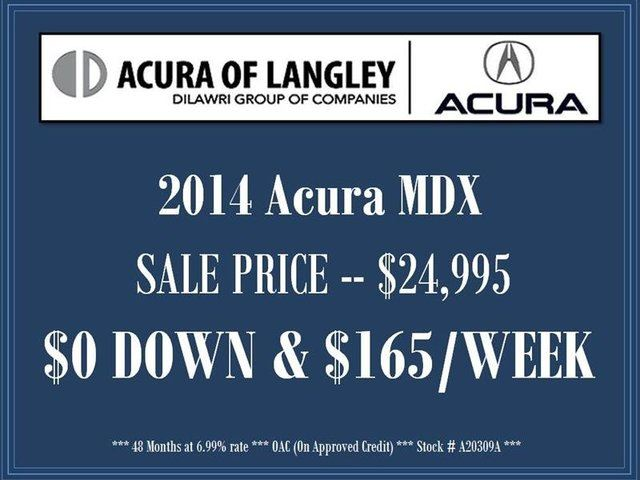 2014 Acura MDX Nav Pkg in Langley, British Columbia